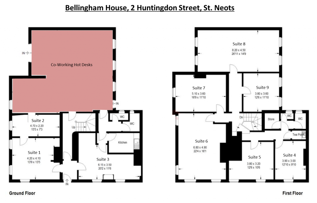 Floor Plans with suite numbers