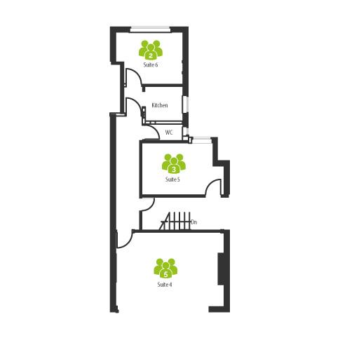 Serviced office Floor Plan for 42 Watling Street (ground floor) - The Workstation, Radlett