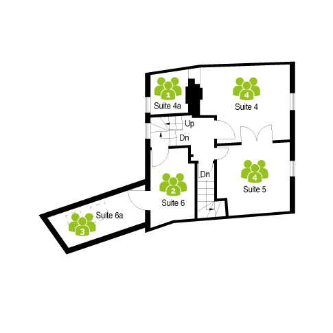 First Floor layout of Merchant House, Abingdon with 5 serviced office suites