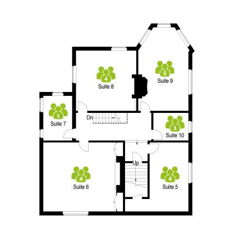 First floor plan for The Workstation, Three Gables - serviced office suites in Hemel Hempstead