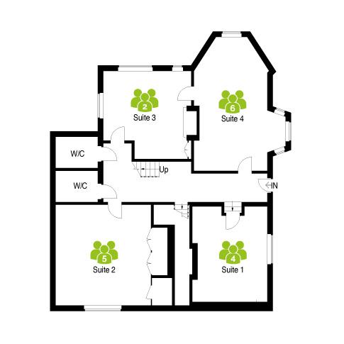 Three Gables Office Floor Plan (ground floor) - The Workstation, Hemel Hempstead