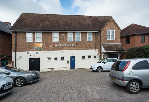 Outside St Thomas House - Marlow Business Centre with 9 allocated car parking spaces