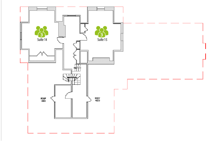 Second Floor layout of Harpenden Business Centre, Rivers Lodge.