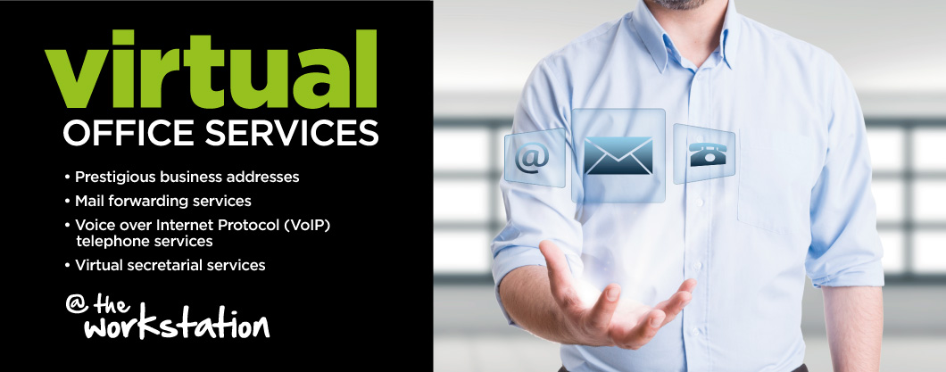 Virtual office services at The Workstation: prestigious business addresses, mail forwarding services, VoIP telephone services, virtual secretary services