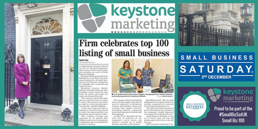 Keystone Marketing Small Business Saturday Downing Street