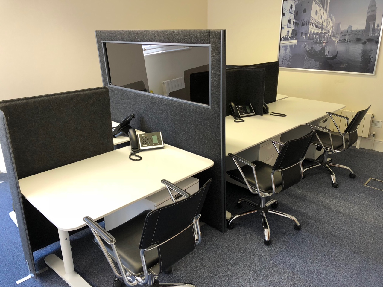 Coworking area, shared office space at Markham House, Wokingham