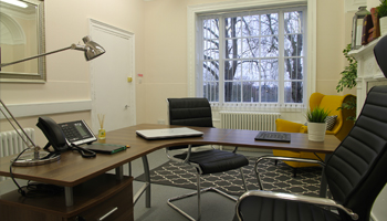 Furnished office space at Rivers Lodge business centre, overlooking Harpenden common.