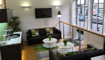 Reception and coffee station at Merchant House business centre in Abingdon