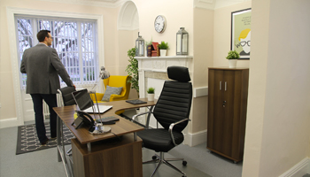 Interior of serviced office space to rent at The Workstation, Harpenden - Rivers Lodge