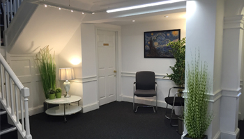 Reception area at Kings Head House