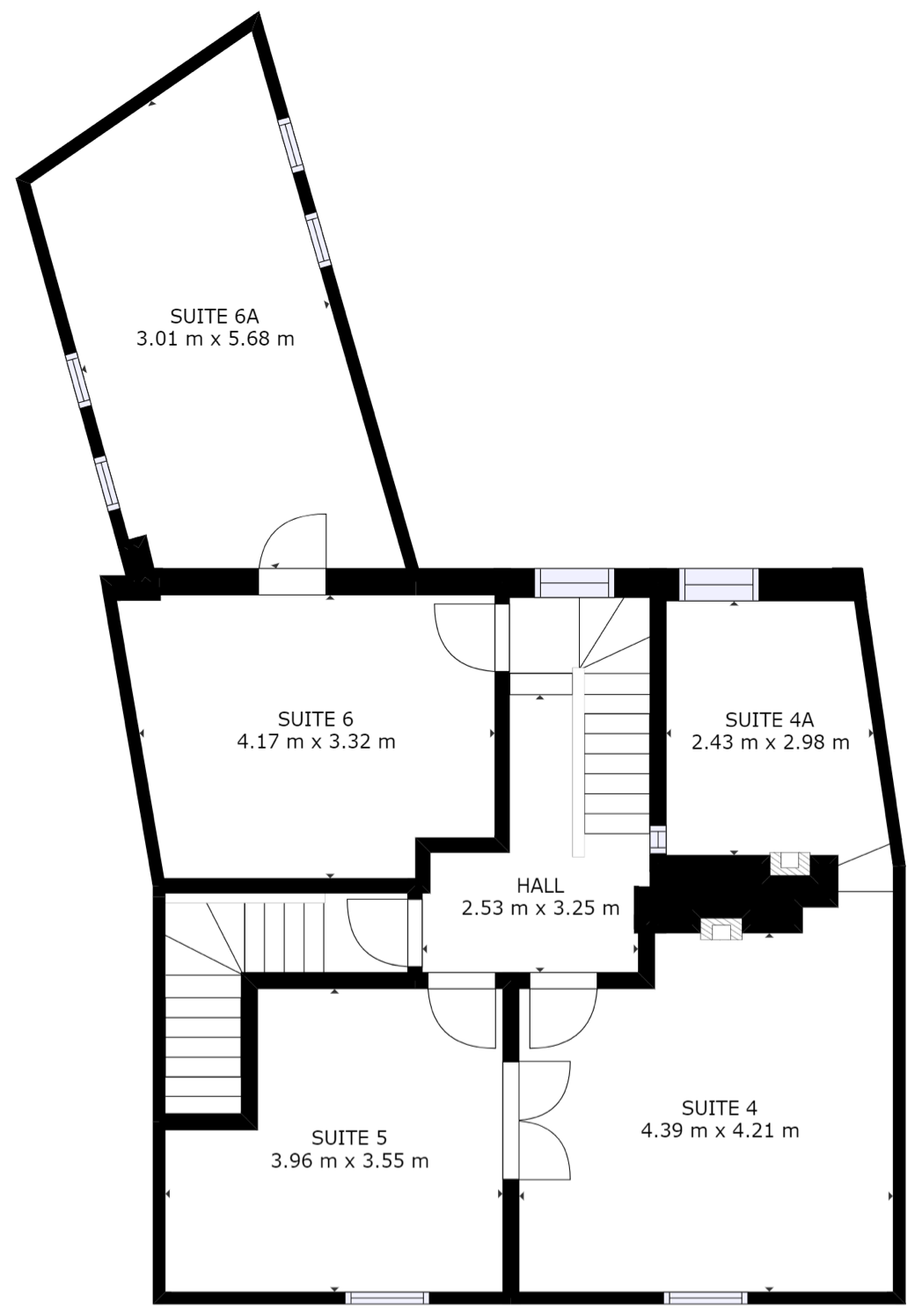 Merchant House First Floor Plan and offices suite layout.