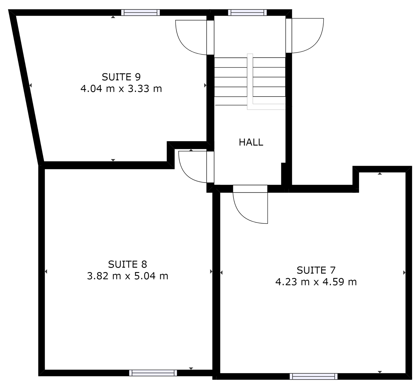 Merchant House Second Floor plan and layout of private office suites