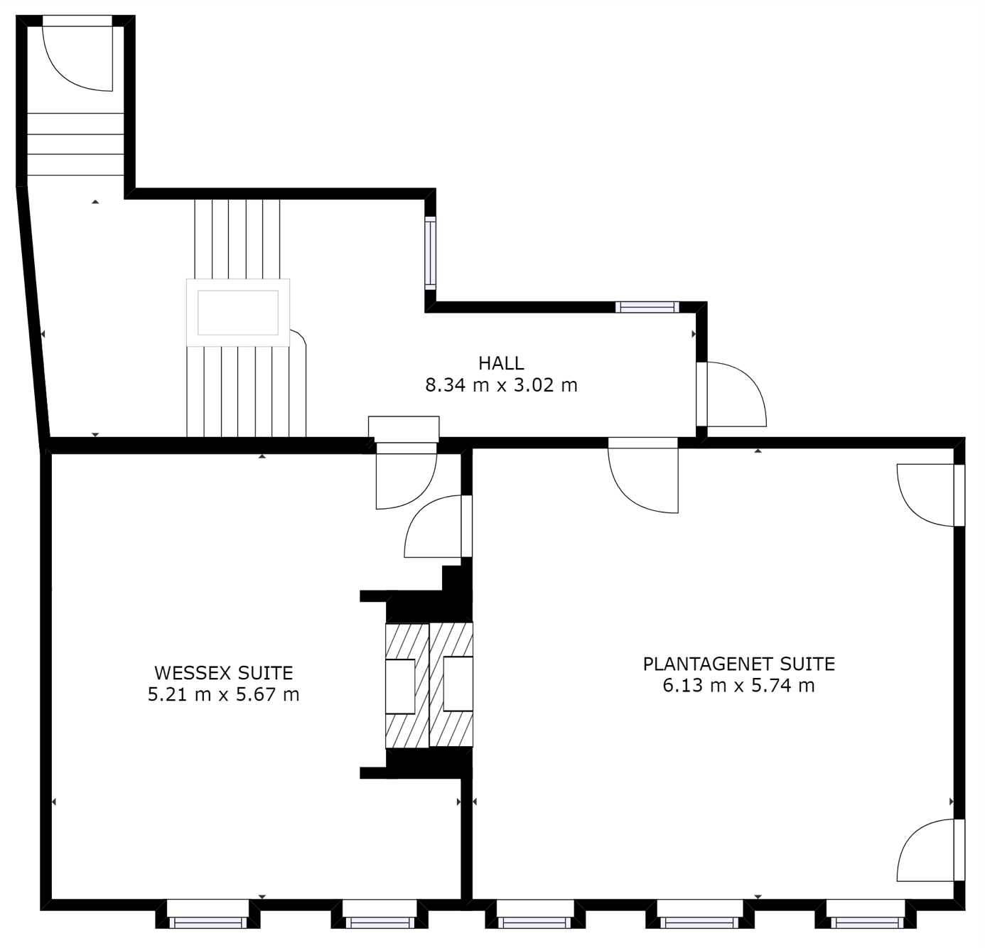 First floor layout of offices at Kings Head House, Beaconsfield