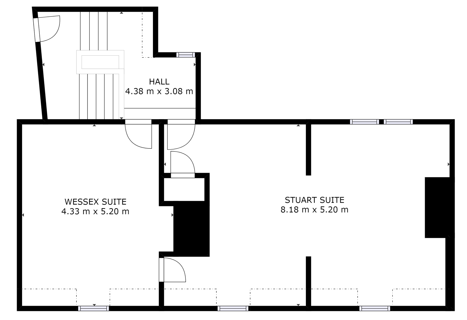Kings Head House Second floor layout - Beaconsfield office floor plan