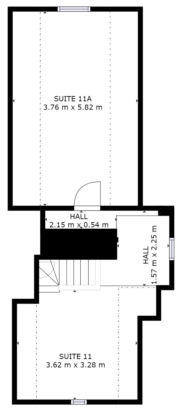 Second floor plan and office suite layout of Three Gables, Hemel Hempstead Business Centre.