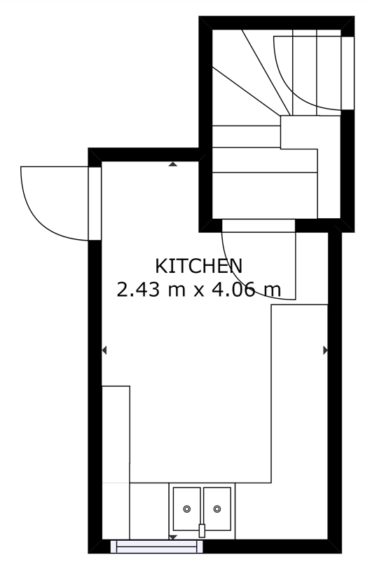 Lower ground floor plan of Three Gables Business Centre in Hemel Hempstead