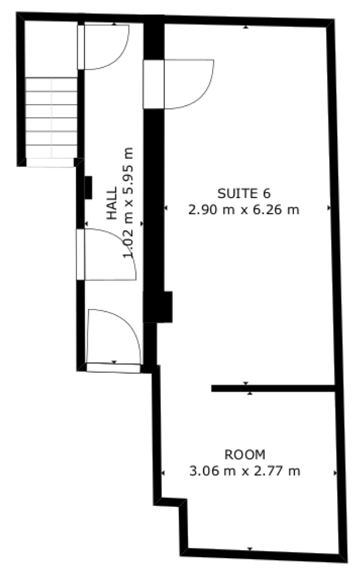 Layout of one half of the basement and private office space at Censeo House, St Albans