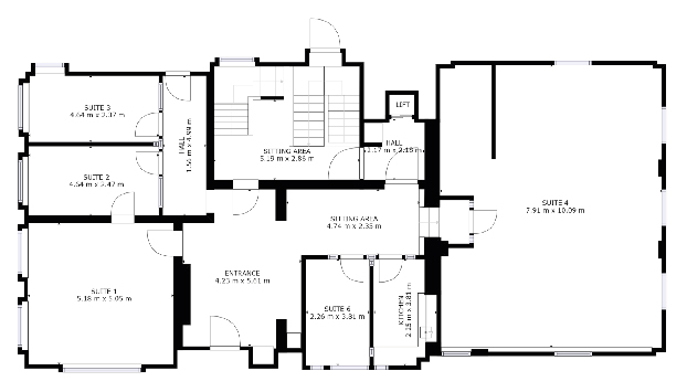 Ground floor plan of private offices to rent in Southampton at The Workstation, Director General's House