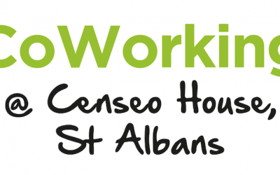 Co-working desks at Censeo House, St Albans