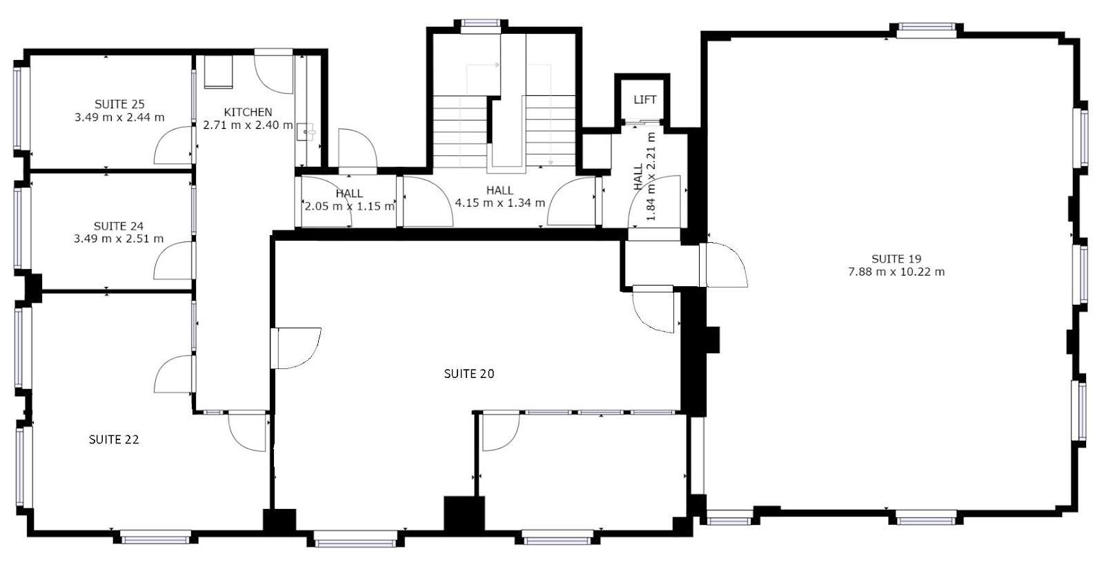 Second floor: floorplan of office space to let at The Workstation, Southampton
