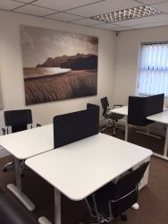 Co-working in St Neots- Hot desk area at Bellingham House
