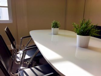 Unbranded meeting room at The Workstation, St Neots
