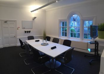 Meeting Room at The Workstation, Beaconsfield. Kings Head House conference room for hire.