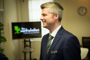 Dominic Palmer at The Workstation St Neots Official Opening