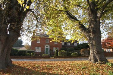 Rivers Lodge Business Centre from Harpenden Common. Exterior Autumn view.