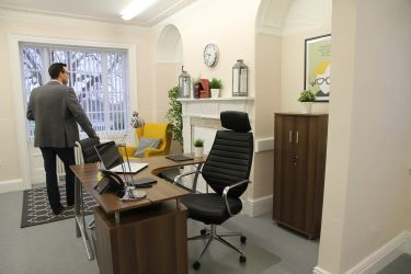 Office space overlooking Harpenden Common available to rent at Rivers Lodge Business Centre, The Workstation.